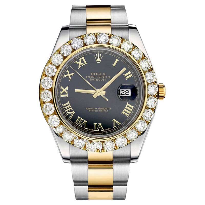 "Image of ""Rolex Datejust II 116333 Diamond Stainless Steel Roman Numerical"""