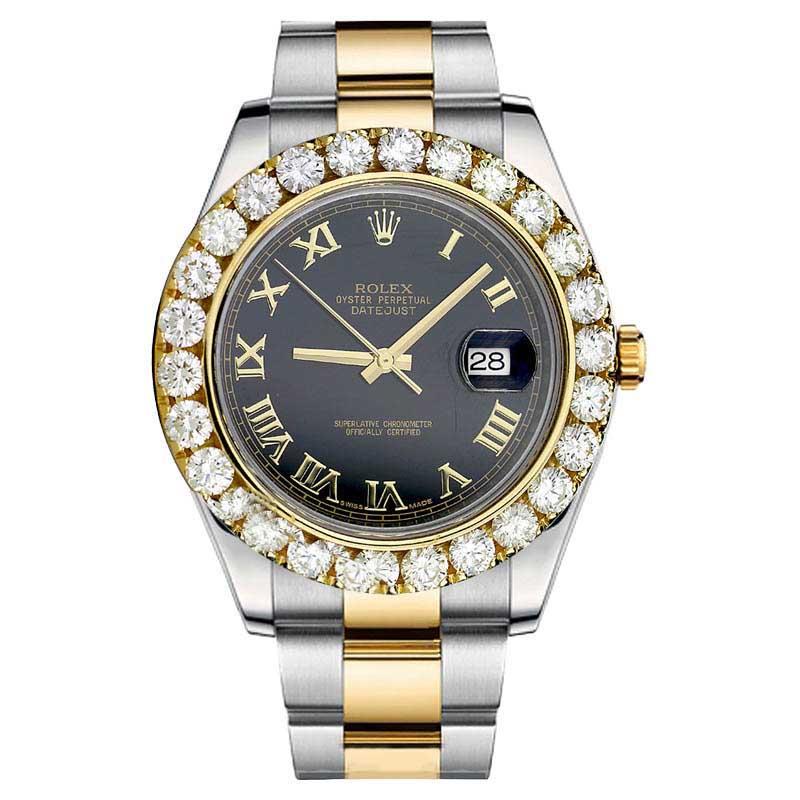 "Image of ""Rolex Datejust II 116333 Diamond Stainless Steel Roman Numerical"""