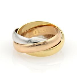 Cartier Trinity 18K Tri-Color Gold Rolling Band Ring 4.5