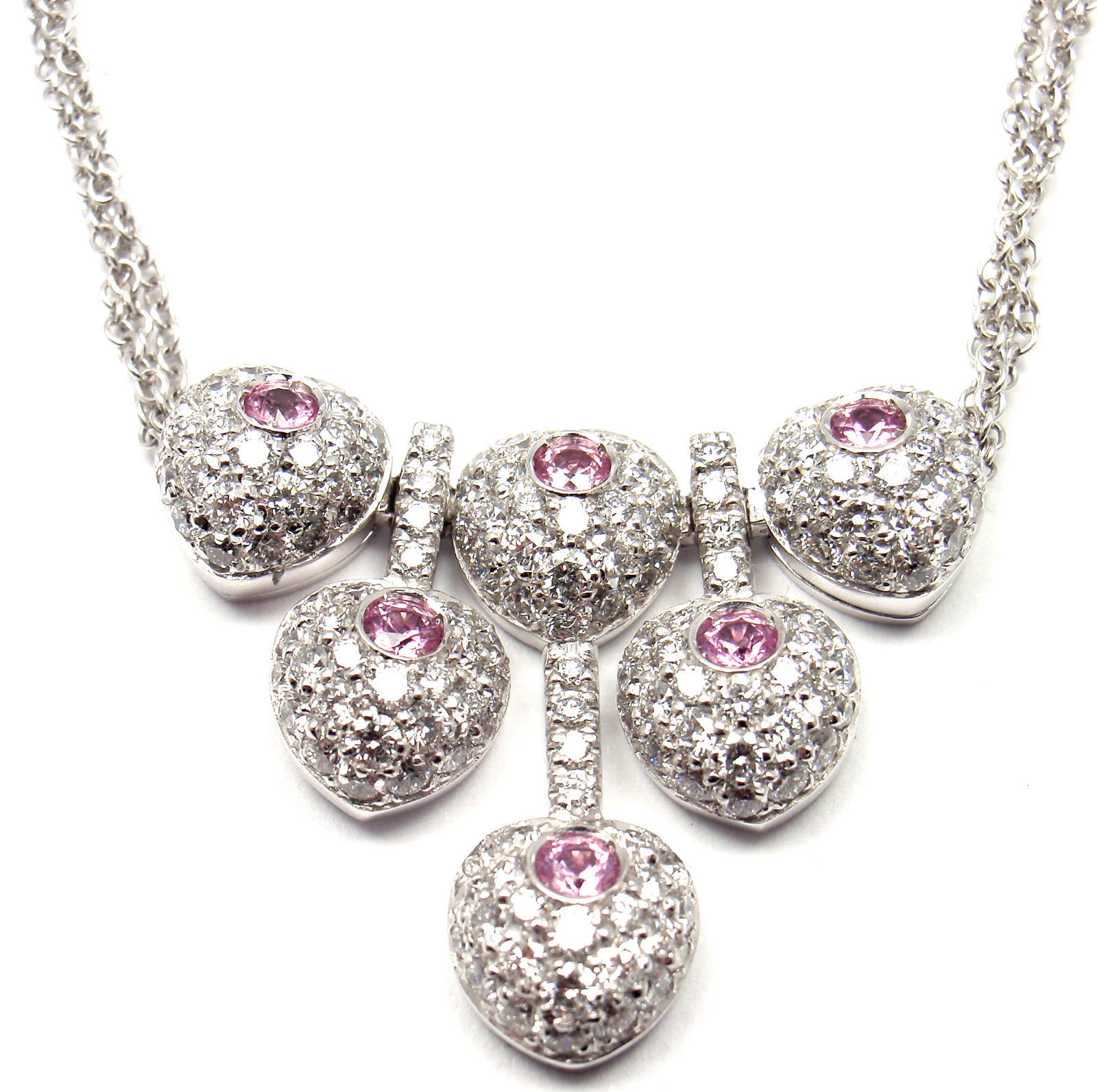"""""Pasquale Bruni 18K White Gold Diamond Sapphire Necklace"""""" 555244"