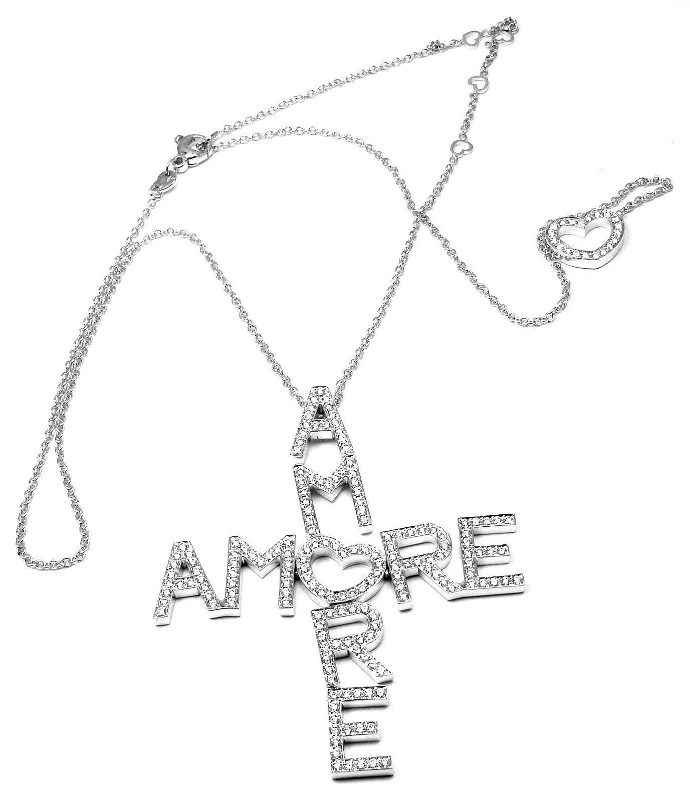 """""Pasquale Bruni Amore 18K White Gold 5.02ct Diamond Pendant Necklace"""""" 558991"