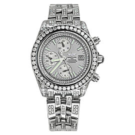 Breitling A13356 Evolution Silver Dial 15ct Diamond Mens Watch