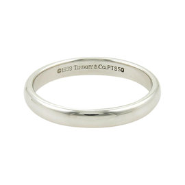 Tiffany & Co. Platinum Plain Dome Wedding Band Ring