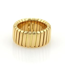Bvlgari Tubogas 18K Yellow Gold Ring 6.5