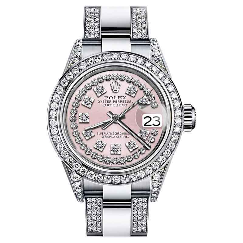 """Image of """"Rolex Oyster Perpetual Datejust Diamonds Dial Stainless Steel Womens"""""""