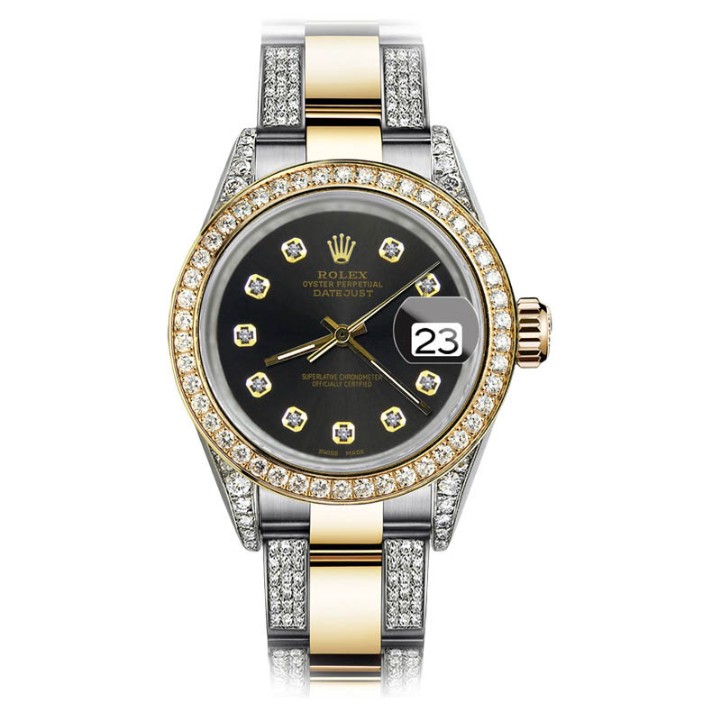 """Image of """"Rolex Oyster Perpetual Datejust 18K Yellow Gold Stainless Steel and"""""""