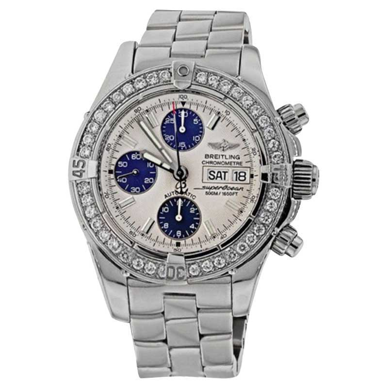 "Image of ""Breitling Super Ocean A13340 Stainless Steel Automatic Diamond Men's"""
