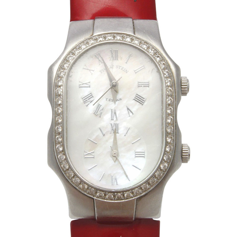 "Image of ""Philip Stein 1Lf002648 Stainless Steel Diamond Quartz 40.26 mm Womens"""