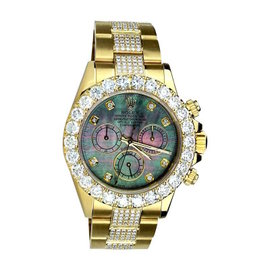 Rolex Daytona 16528 18K Yellow Gold Diamonds Dial & Oyster Bracelet 40mm Watch