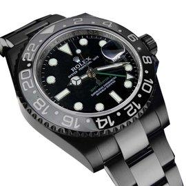 Rolex GMT Master II Batman 116 Black Dial & Bezel Stainless Steel Luxury Dress Watch
