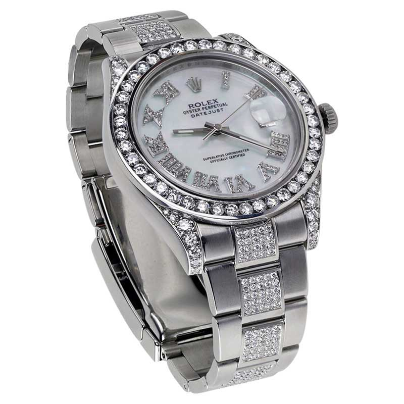 "Image of ""Rolex Datejust II Mother Of Pearl Dial Stainless Steel Oyster Diamond"""