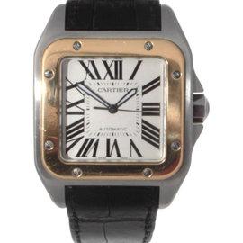 Cartier Santos 2656 100 XL 18K Gold & Stainless Steel Mens Watch