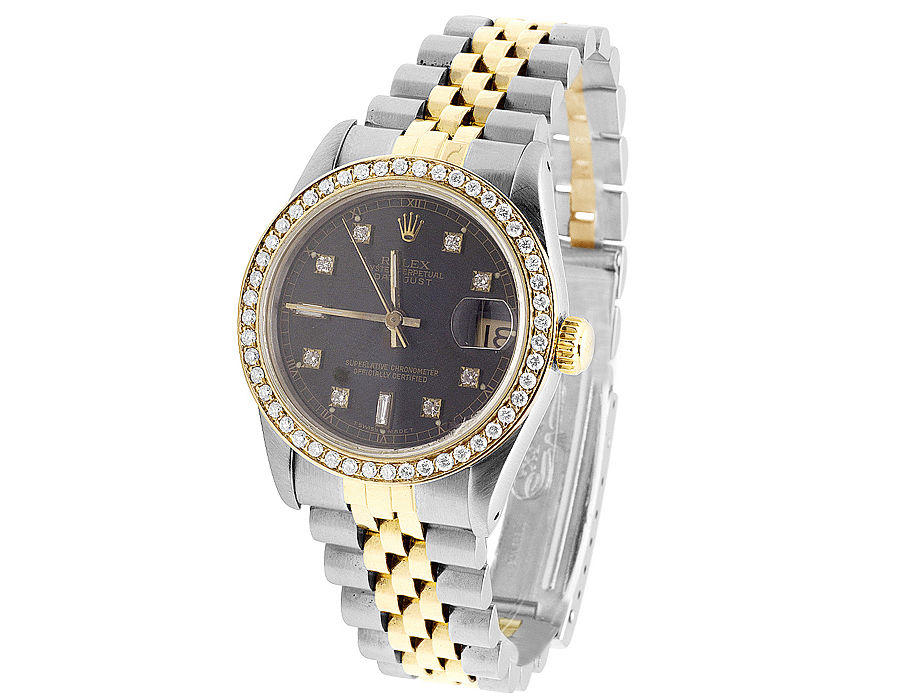 """Image of """"Rolex Datejust 78273 2 Tone 18K/Steel Gold Jubilee Diamond 31mm Watch"""""""