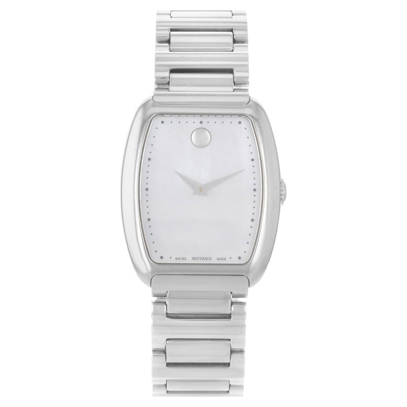 "Image of ""Movado 0606547 Concerto White Mother of Pearl Stainless Steel Quartz"""