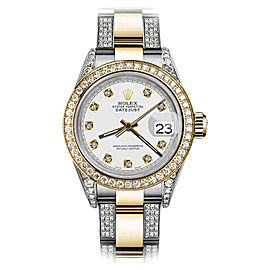 Rolex Oyster Perpetual Datejust Diamonds White Dial 26mm Womens Watch