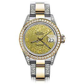 Rolex Oyster Perpetual Datejust Diamonds Gold Jubilee Roman 26mm Womens Watch