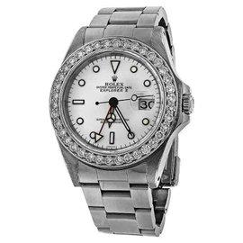Rolex Explorer II 16570 Stainless Steel With Diamond Unisex Watch