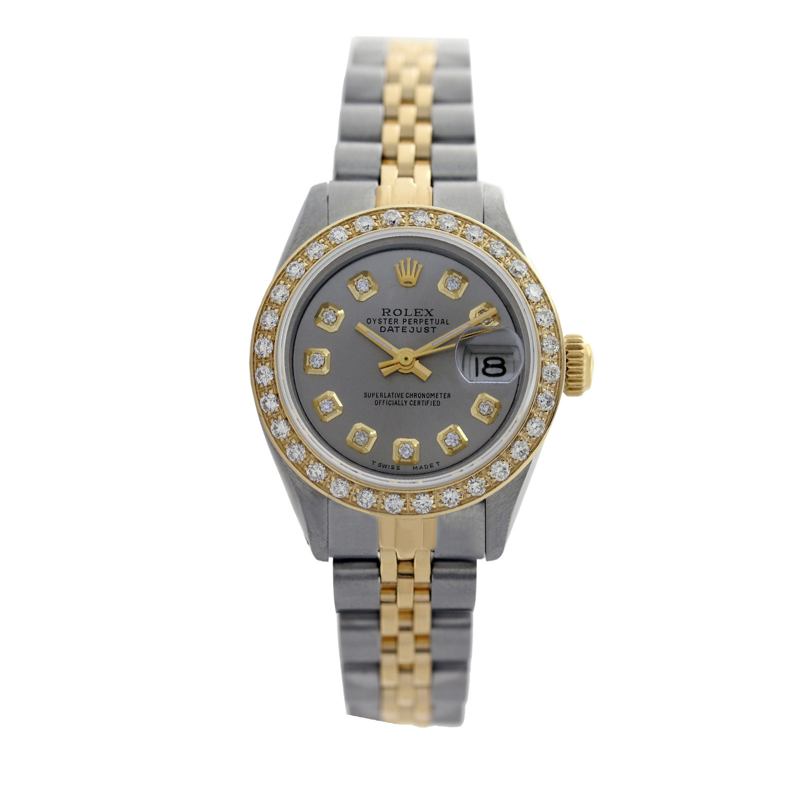 "Image of ""Rolex Datejust 6917 18K Yellow Gold & Stainless Steel 26mm Diamonds"""
