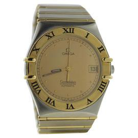 Omega Constellation Chronometer 18K/Stainless Steel Skeleton Back Mens 36mm Watch