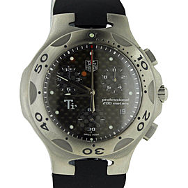 Tag Heuer Kirium CL1180 Ti5 Titanium Chronograph Rubber Strap Mens Watch