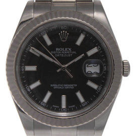 Rolex Datejust II 116334 Stainless Steel Black Dial With Sticks 41mm Mens Watch