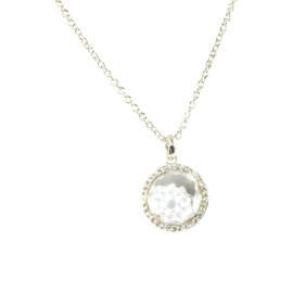 Ippolita Lollipop Sterling Silver Clear Quartz Diamond Pendant Necklace