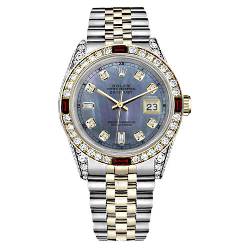 """Image of """"Rolex Datejust 18K Yellow Gold & Stainless Steel With Tahitian Mother"""""""