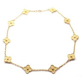 Van Cleef & Arpels Alhambra 18k Yellow Gold Vintage Necklace