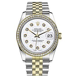 Rolex Datejust Stainless Steel/ 18K Gold Jubilee w Diamonds Jubilee 36mm Unisex Watch