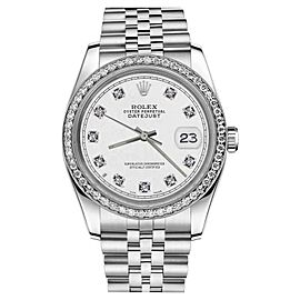 Rolex Datejust White Dial Stainless Steel Classic Jubilee 36mm Unisex Watch