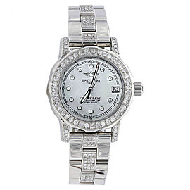 Breitling Colt A7738711.C850 White Mother Of Pearl Diamond Dial & Bezel 33mm Womens Watch