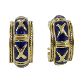 Hidalgo 18K Yellow Gold Navy Blue