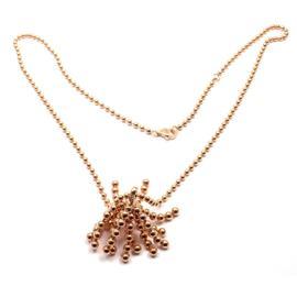 Cartier Paris Nouvelle Vague 18k Rose Gold 0.10 Ct Diamond Pendant Necklace