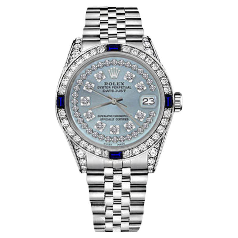 """Image of """"Rolex Datejust Stainless Steel/ 18K Gold Ice Blue String Dial with"""""""