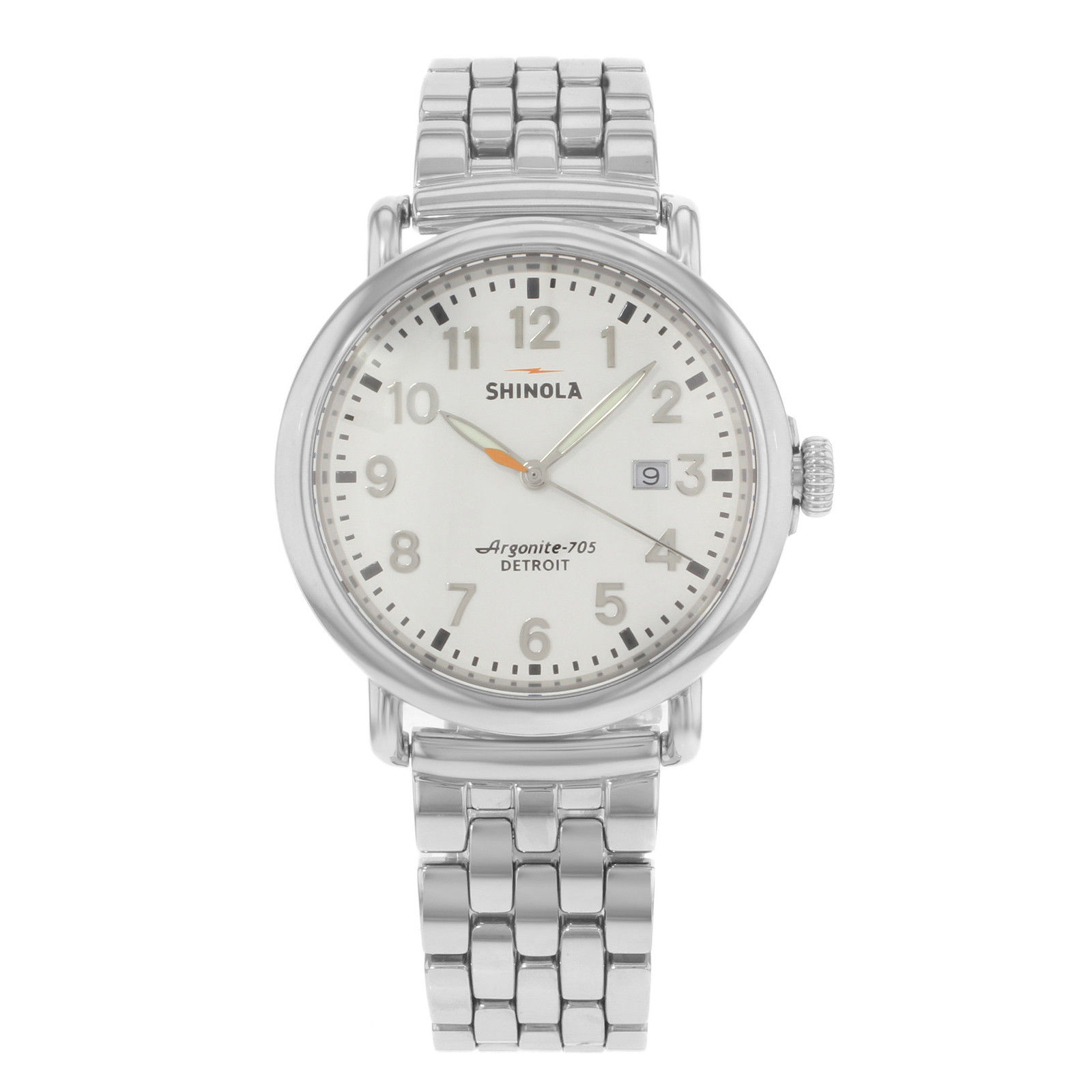 "Image of ""Shinola Runwell Detroit 10000054 Stainless Steel Quartz 41mm Mens"""