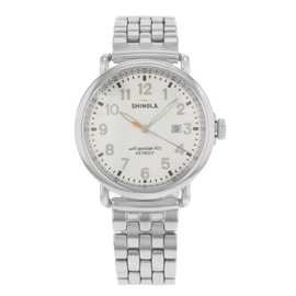 Shinola Runwell Detroit 10000054 Stainless Steel Quartz 41mm Mens Watch