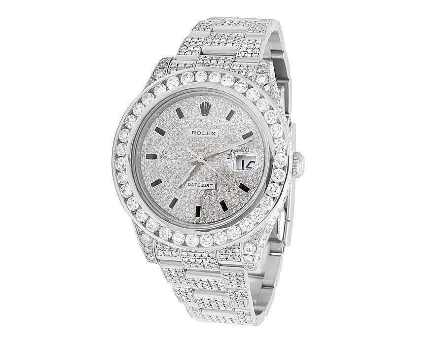 "Image of ""Rolex Datejust II 116334 Stainless Steel 21.5 ct Diamond 41mm Full"""