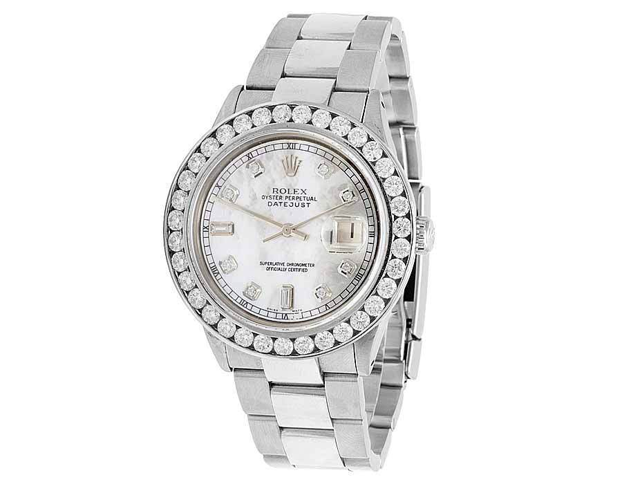 "Image of ""Rolex Datejust Oyster Stainless Steel White Mother Of Pearl Dial"""