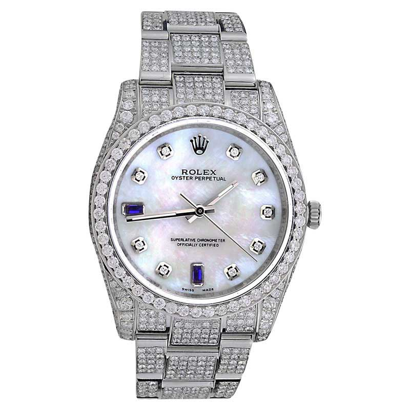 "Image of ""Rolex Oyster Perpetual 116000 Stainless Steel Genuine Pearl Face w"""