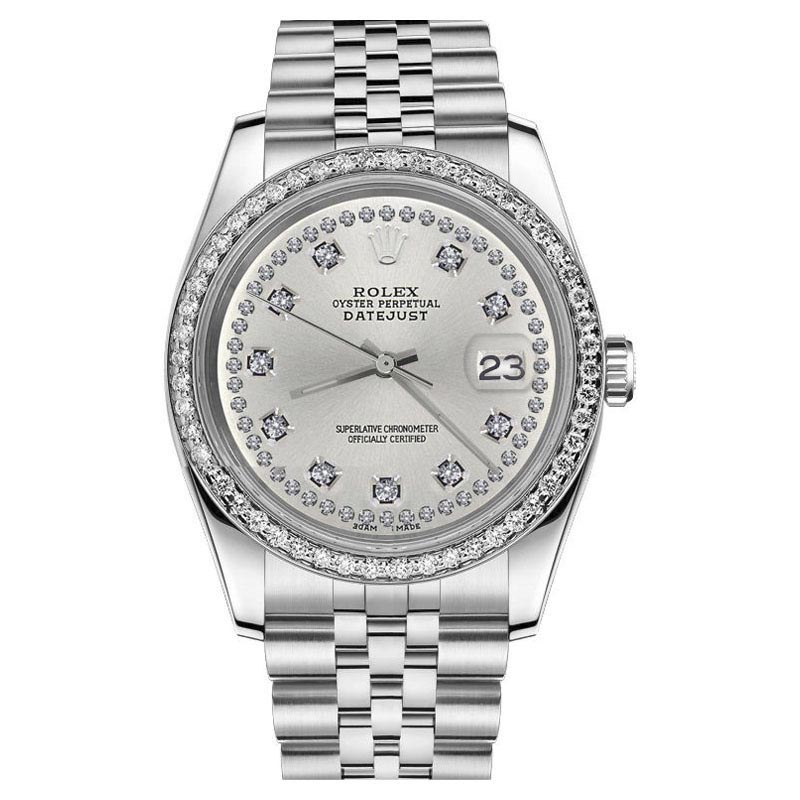 "Image of ""Rolex Datejust Stainless Steel & Diamond 26mm Womens Watch"""