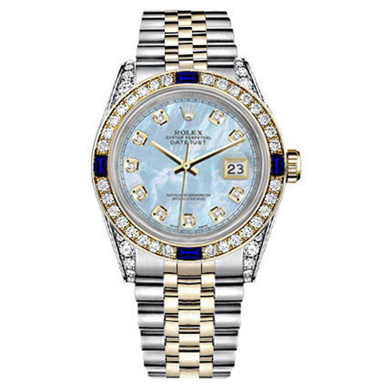 """Image of """"Rolex Datejust 18K Yellow Gold & Stainless Steel MOP Diamond &"""""""