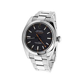 Rolex Milgauss 116400 Oyster Perpetual Stainless Steel 40mm Watch