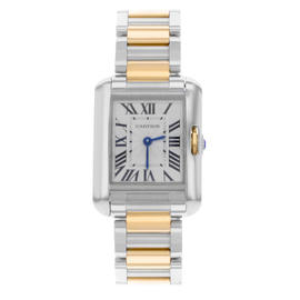 Cartier Tank Anglaise W5310036 Stainless Steel & 18K Rose Gold Quartz 22.5mm Watch