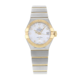 Omega Constellation 123.20.27.20.55.002 18K Yellow Gold and Stainless Steel 27mm Watch