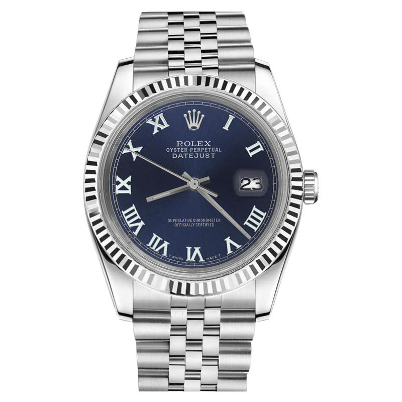 """Image of """"Rolex Datejust Stainless Steel With Navy Blue Roman Numeral Dial 31mm"""""""
