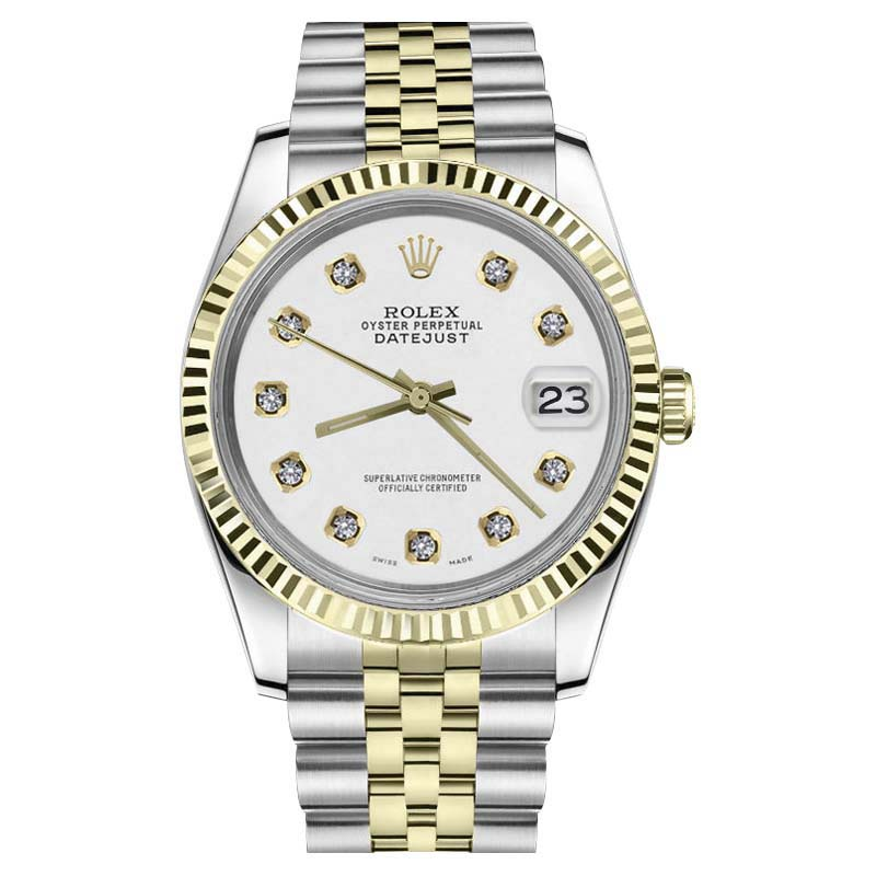 "Image of ""Rolex Datejust Stainless Steel & 18K Yellow Gold White Dial w/"""