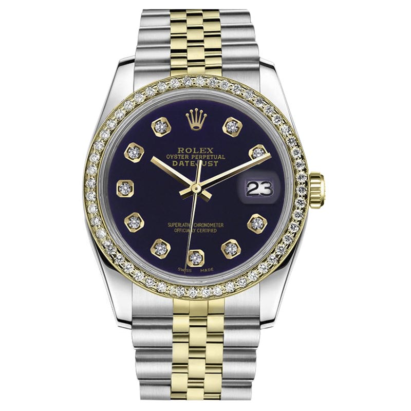 """Image of """"Rolex Datejust Stainless Steel & 18K Yellow Gold Purple Color Dial"""""""
