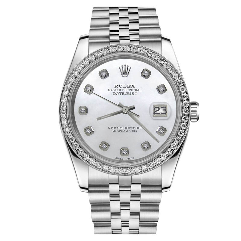 """Image of """"Rolex Datejust Stainless Steel White MOP Mother of Pearl Dial w"""""""
