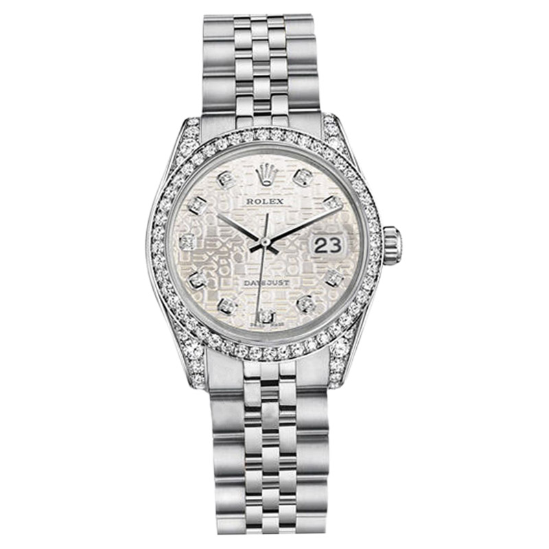 "Image of ""Rolex Datejust Stainless Steel Silver Jubilee Metal Diamond Dial 36mm"""