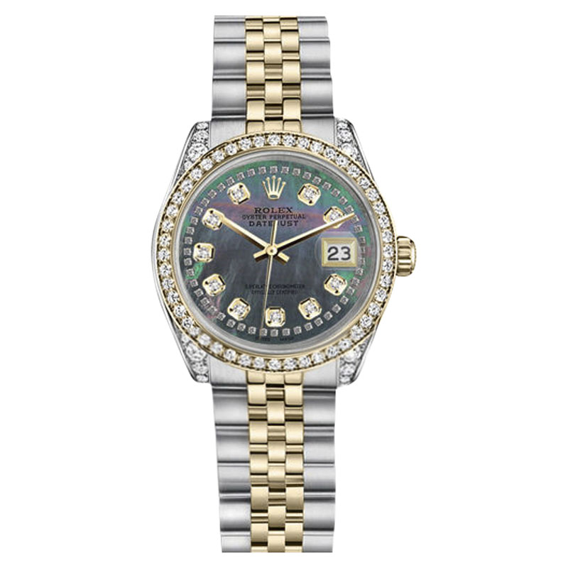 """Image of """"Rolex Datejust Stainless Steel & 18K Yellow Gold Black Mother Of Pearl"""""""